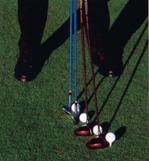 position balle golf